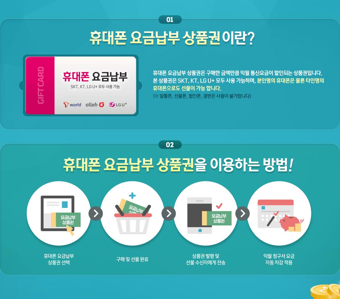 휴대폰 요금납부 상품권